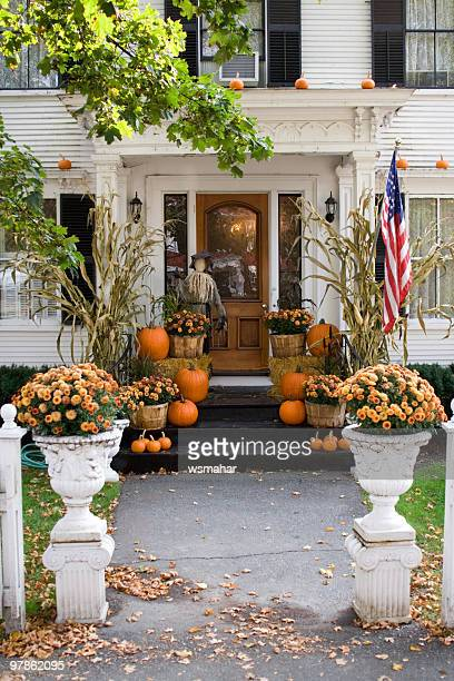 all set and ready for halloween at home - halloween decoration stock pictures, royalty-free photos & images