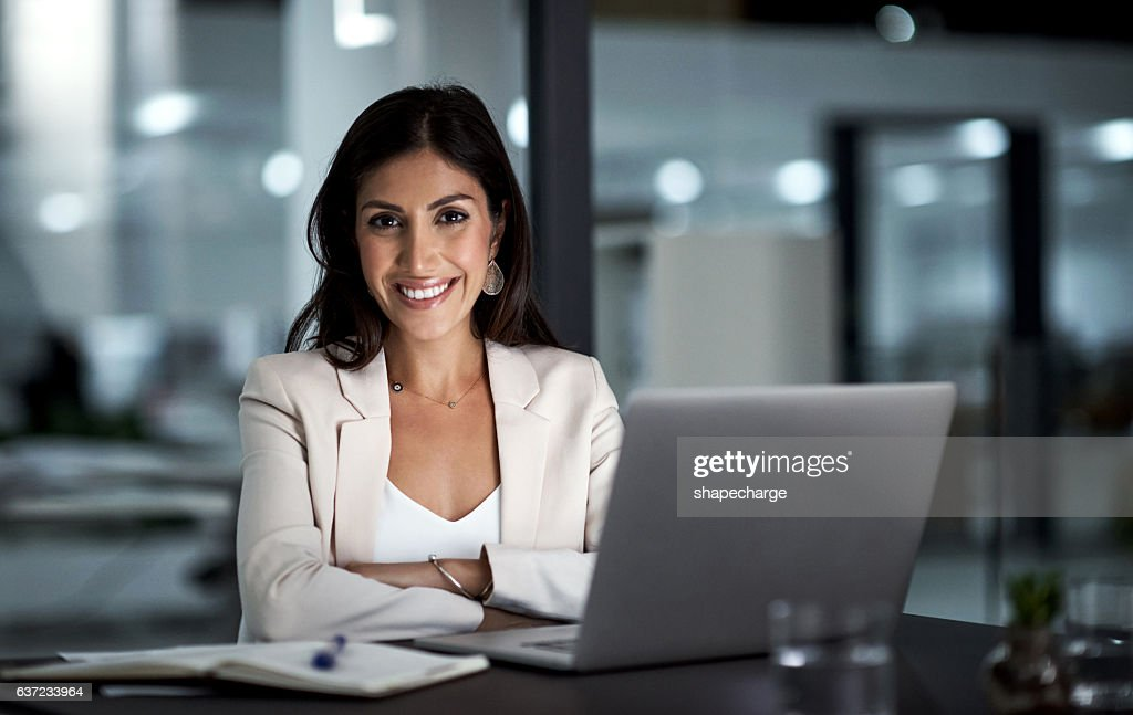 All set for a productive night ahead : Stock Photo