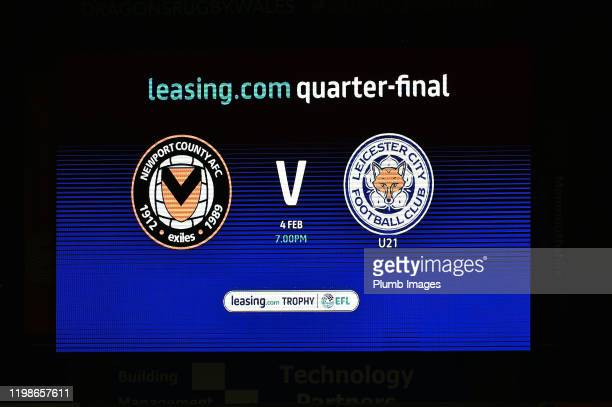 All set for the Leasingcom quarter final match between Newport County and Leicester City U21 at Rodney Parade on February 04 2020 in Newport United...