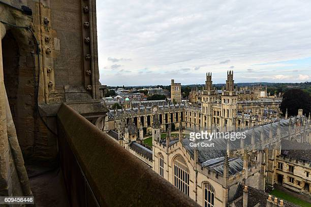 All Souls College founded in 1438 is pictured on September 20 2016 in Oxford England Oxford University has taken number one position in the 20162017...