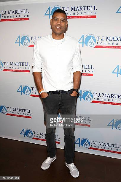 All Star Allan Houston attends TJ Martell Foundation's 16th Annual New York Family Day at Wythe Hotel on December 13 2015 in New York City