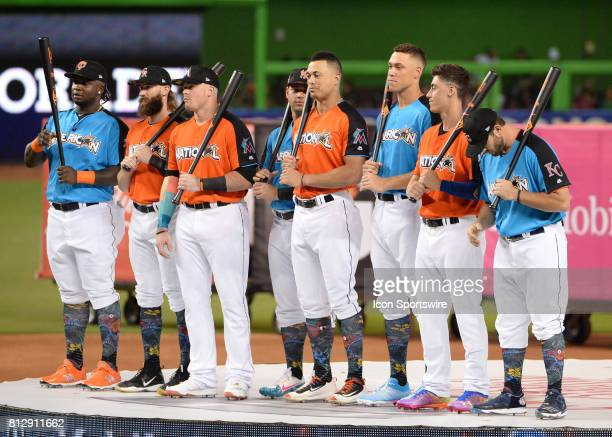 All Star Home Run Derby player presentation prior to the Home Run Derby on July 09 2017 at Marlins Park in Miami FL