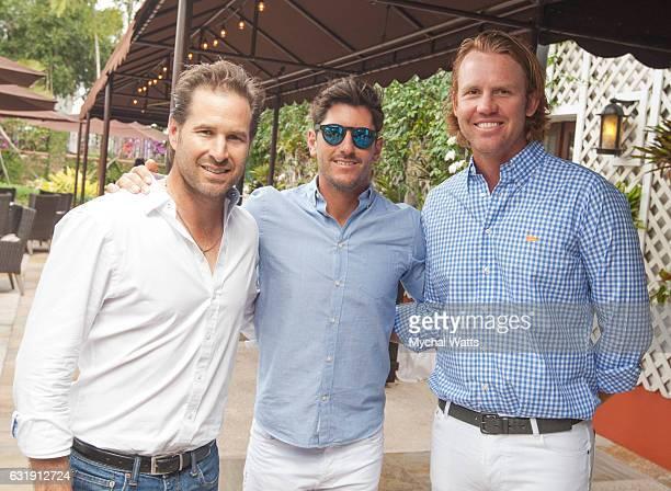 All Star International Polo Players Brandon Phillips Nic Roldan and Kris Kampsen at International Polo Club Palm Beach on January 16 2017 in...