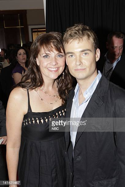 JULY 2008 'All Star Party' Pictured Amanda Tapping and Robin Dunne arrive on the red carpet at the 2008 NBC Press Tour 'All Star Party' held at the...