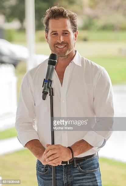 All Star Polo Player and Lukemia Cancer Survivor Brandon Phillips at International Polo Club Palm Beach on January 16 2017 in Wellington Florida