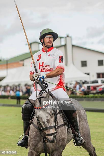 All Star Polo Player Jeff Hall after exibition Game at International Polo Club Palm Beach on January 16 2017 in Wellington Florida