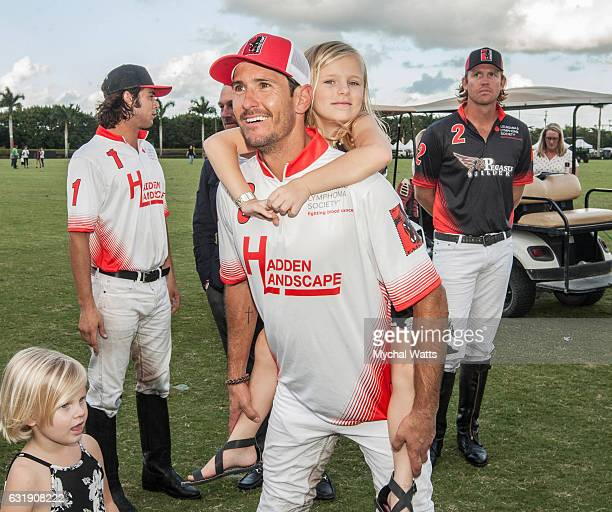 All Star Polo Player Jeff Hall and Cancer Survivor Piper Apfel at International Polo Club Palm Beach on January 16 2017 in Wellington Florida