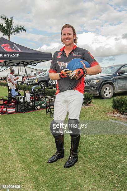 All Star Polo Player Kris Kampsen after exibition Game at International Polo Club Palm Beach on January 16 2017 in Wellington Florida