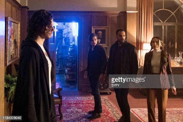 THE MAGICIANS All That Hard Glossy Armor Episode 410 Pictured Hale Appleman as Eliot Waugh Jason Ralph as Quentin Coldwater Arjun Gupta as Penny...