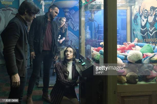 THE MAGICIANS All That Hard Glossy Armor Episode 410 Pictured Jason Ralph as Quentin Coldwater Arjun Gupta as Penny Adiyodi Aylse Maloway as Berry...