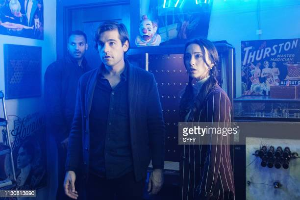 THE MAGICIANS All That Hard Glossy Armor Episode 410 Pictured Penny Adiyodi Jason Ralph as Quentin Coldwater Stella Maeve as Julia Wicker