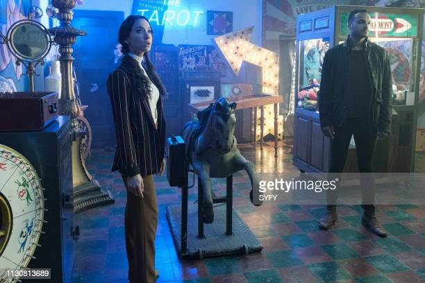 THE MAGICIANS All That Hard Glossy Armor Episode 410 Pictured Stella Maeve as Julia Wicker Arjun Gupta as Penny Adiyodi