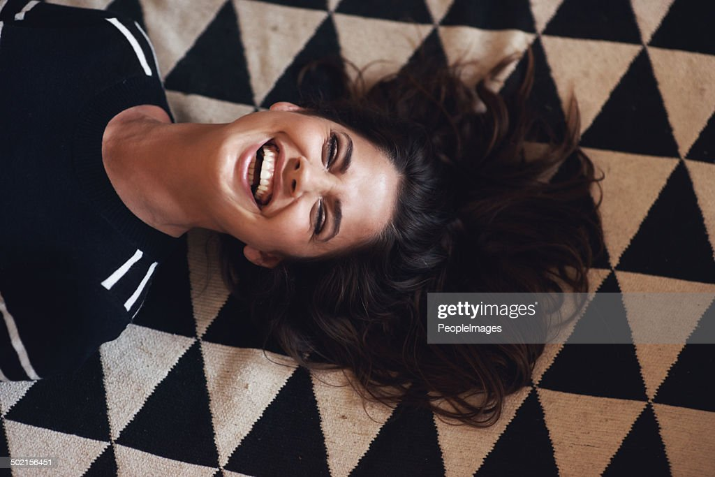 All that I'm after is a life full of laughter! : Stock Photo