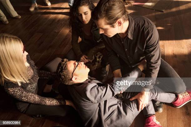 THE MAGICIANS 'All That Josh' Episode 309 Pictured Olivia Taylor Dudley as Alice Trevor Einhorn as Josh Hoberman Jade Tailor as Kady OrloffDiaz Jason...