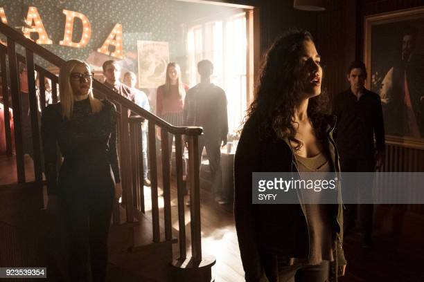 THE MAGICIANS 'All That Josh' Episode 309 Pictured Olivia Taylor Dudley as Alice Jade Tailor as Kady OrloffDiaz