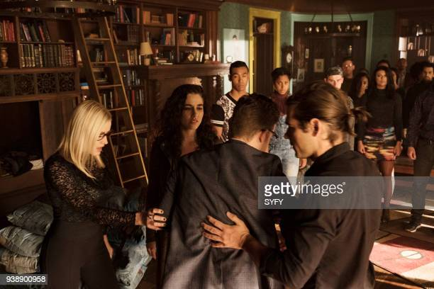 THE MAGICIANS 'All That Josh' Episode 309 Pictured Olivia Taylor Dudley as Alice Jade Tailor as Kady OrloffDiaz Jason Ralph as Quentin Coldwater