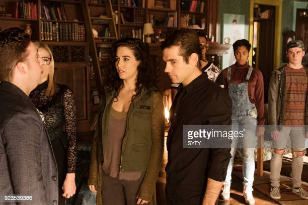 THE MAGICIANS 'All That Josh' Episode 309 Pictured Trevor Einhorn as Josh Hoberman Olivia Taylor Dudley as Alice Jade Tailor as Kady OrloffDiaz Jason...