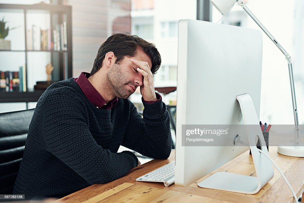 All that work and I forgot to save it! : Stock Photo