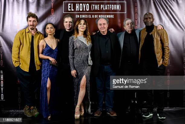 """All the cast attend """"El Hoyo """" Madrid Premiere on November 04, 2019 in Madrid, Spain."""