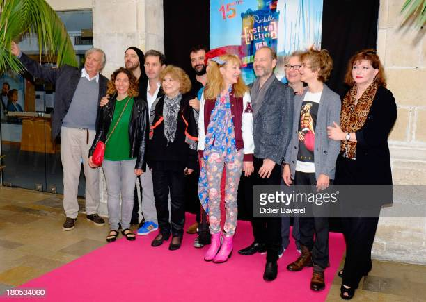 All the cast pose during the photocall of 'La Famille Katz' at 15th Festival of TV Fiction on September 14 2013 in La Rochelle France