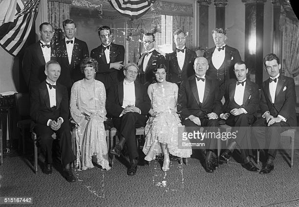 All the greatest transatlantic flyers are present at the dinner given in honor of James H. Kimball, meteorologist of the United States Bureau; The...