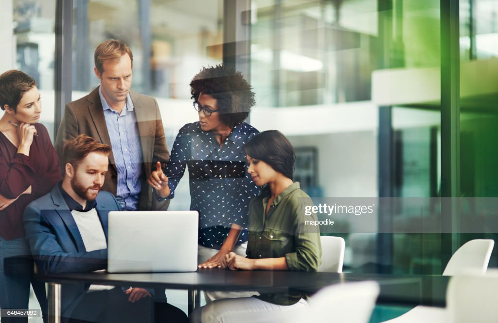 All the information they need for a productive collaboration : Stock Photo