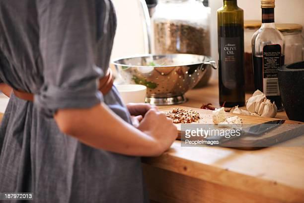 Die Zubereitung einer Mahlzeit