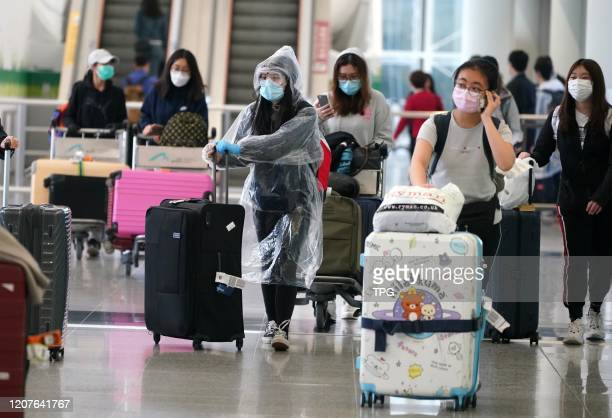 All the people arrive Hong Kong airport from abroad have to be subject to quarantine inspection during the outbreak of novel coronavirus pneumonia on...