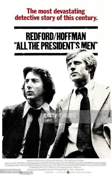 All The President's Men poster from left Dustin Hoffman Robert Redford 1976