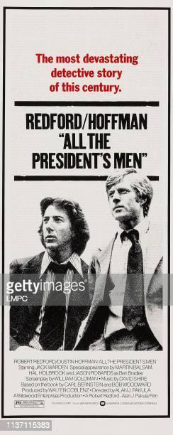 All The President's Men poster lr Dustin Hoffman Robert Redford on insert poster 1976