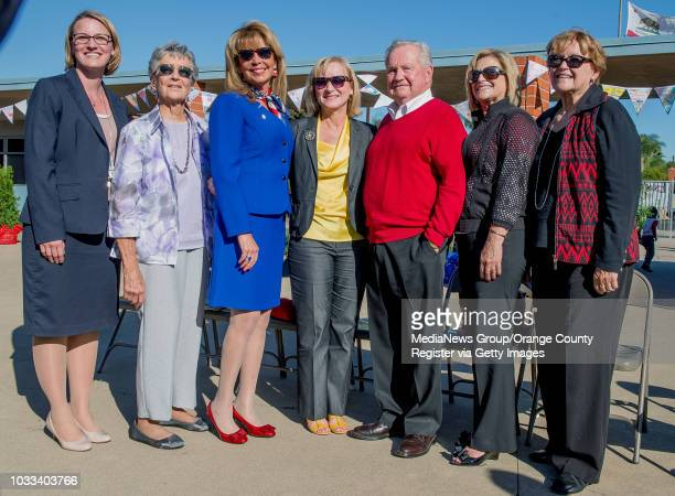 All the principals that have been at Estock Elementary School in Tustin over the last 50 years pose for a photo during the Helen Estock Elementary...