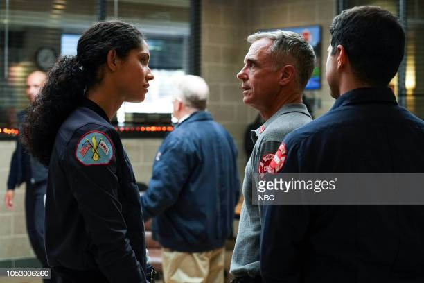 FIRE 'All the Proof' Episode 706 Pictured Miranda Rae Mayo as Stella Kidd David Eigenberg as Christopher Herrmann