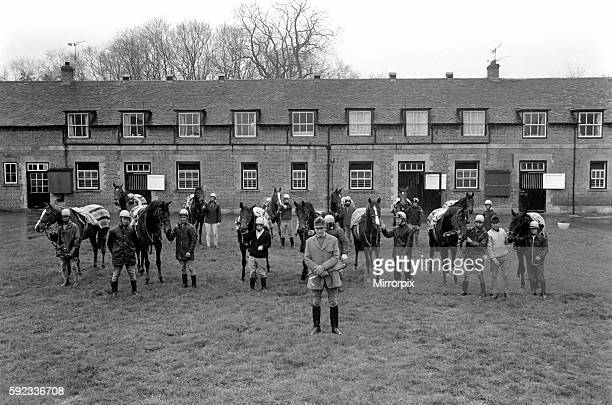 All the Queens Horses At West Ilsley Berks trainer Major W R Hern stands in front of the 13 horses for the Queen Left to right Back row Star Harbour...