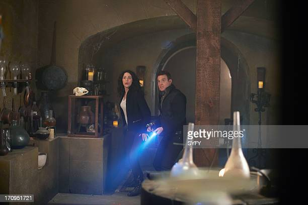 """All the Time in the World"""" Episode 419 -- Pictured: Joanne Kelly as Myka Bering, Eddie McClintock as Pete Lattimer --"""