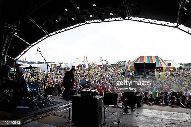 All The Young performs on stage during the first day of YNot Festival 2011 on August 5 2011 in Matlock United Kingdom