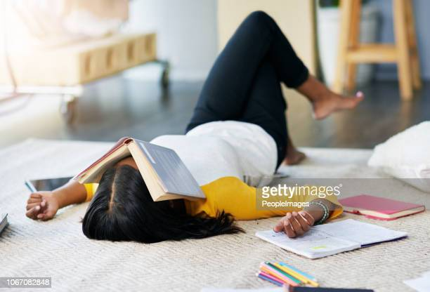 all this studying has exhausted her - weekend activities stock pictures, royalty-free photos & images