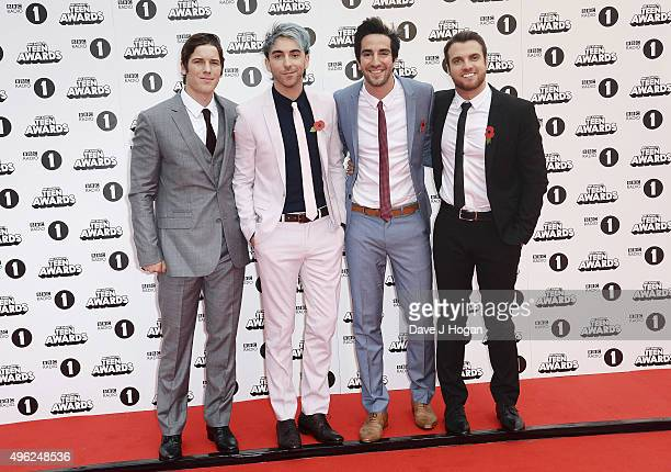 All Time Low attends the BBC Radio 1 Teen Awards at Wembley Arena on November 8 2015 in London England