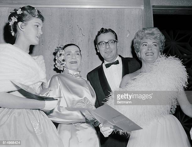 All Together Hollywood California Actress Lana Turner and daughter Cheryl Crane are shown on arrival for the premiere of the movie Imitation of Life...