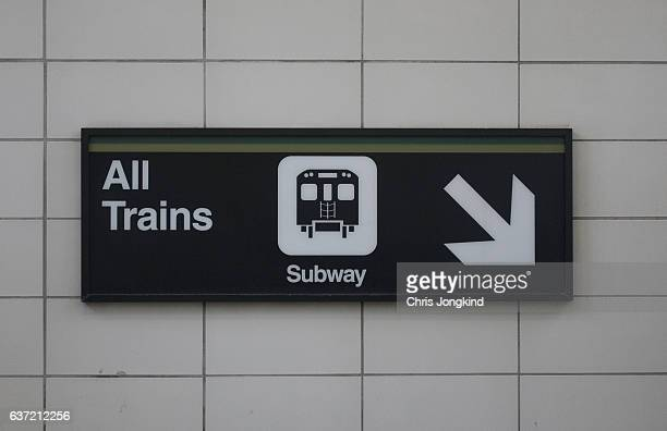 all trains sign - underground sign stock pictures, royalty-free photos & images
