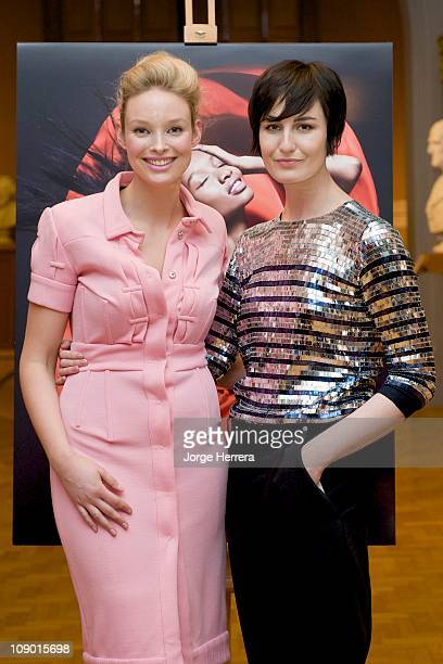All Walks Beyond the Catwalk models Katie Parsons and Erin O'Connor unveil new Rankin portraits at the National Portrait Gallery on February 11 2011...