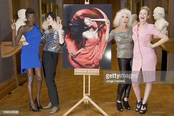 All Walks Beyond the Catwalk models Sheila Atom Erin O'Connor Valerie Pain and Katie Parsons unveil new Rankin portraits at the National Portrait...