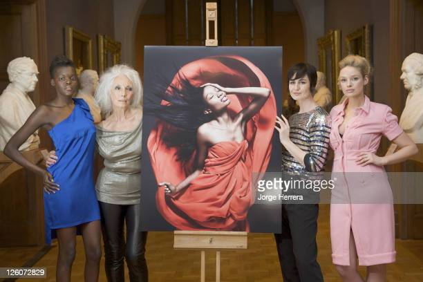All Walks Beyond the Catwalk models Sheila Atom Valerie Pain Erin O'Connor and Katie Parsons unveil new Rankin portraits at the National Portrait...