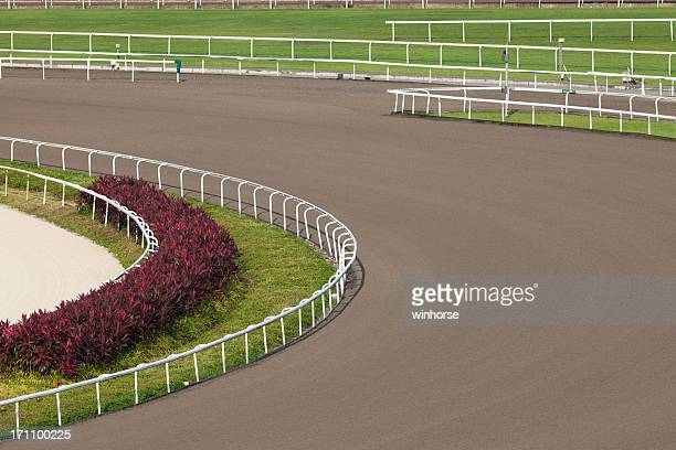all weather track in racecourse - horse racecourse stock photos and pictures