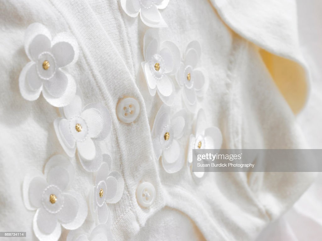 Off white lace with flower applique heavenly garters