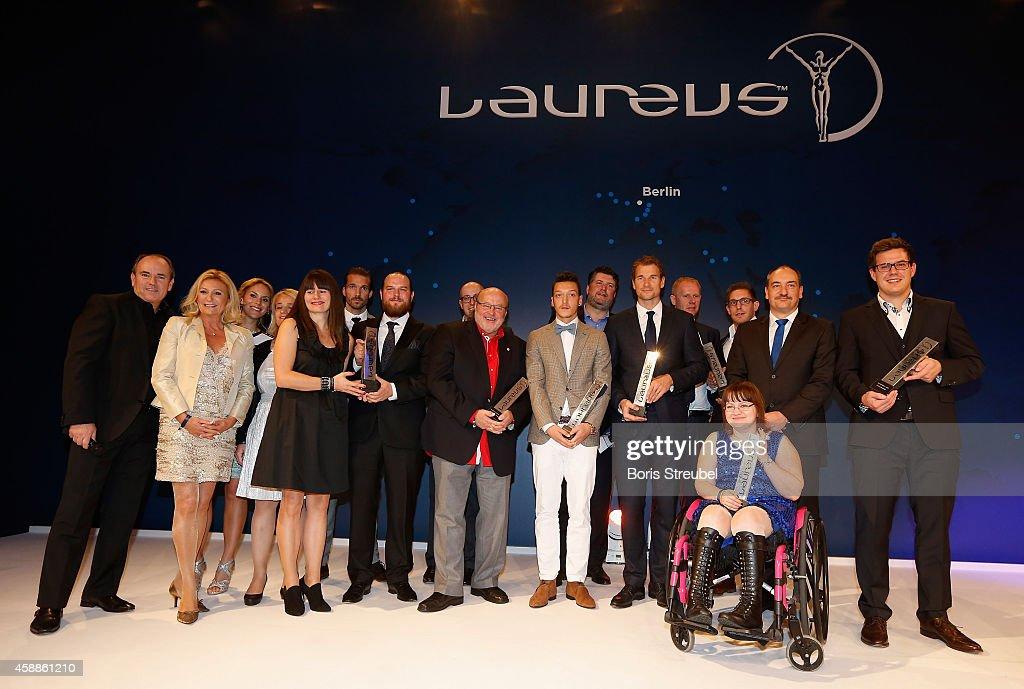 All winners of the Laureus Medien Award 2014 pose after the Laureus Media Award 2014 at Grand Hyatt Hotel on November 12, 2014 in Berlin, Germany.