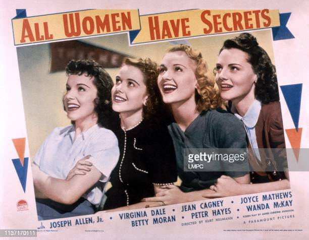 All Women Have Secrets lobbycard from left Joyce Mathews Betty Moran Virginia Dale Jeanne Cagney 1939