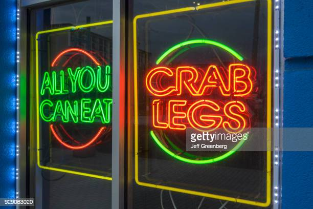 All you can eat and crab legs neon signs