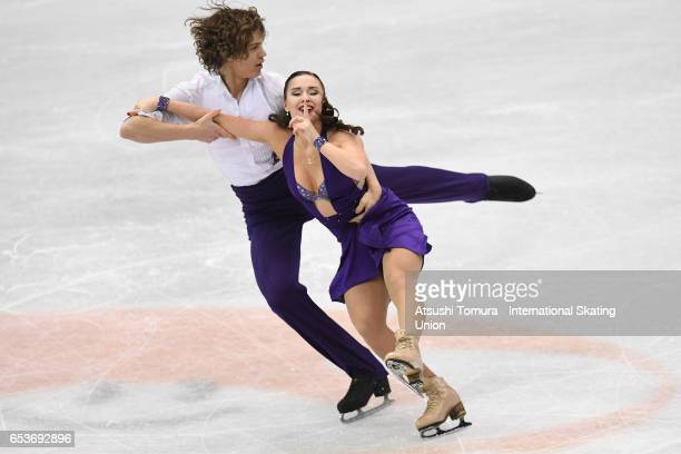 Alla Loboda and Pavel Drozd of Russia compete in the Junior Ice Dance Short Dance during the 2nd day of the World Junior Figure Skating Championships...