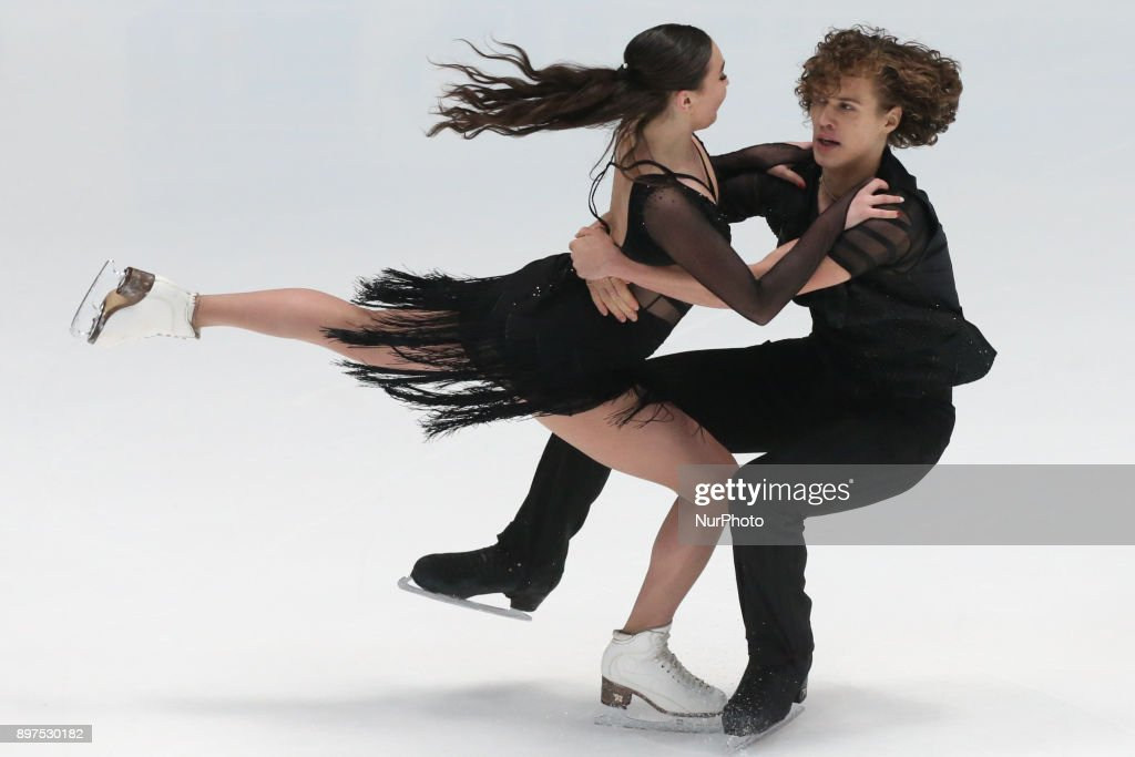 Alla Loboda and Pavel Drozd perform free dance at the Russian Figure Skating Championships in St, on December 23, 2017. Petersburg, on December 23, 2017.