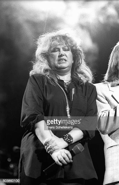 Alla Poegatsjova, Russian rock Star, performs at the Carre on 19th May 1987 in Amsterdam, the Netherlands.